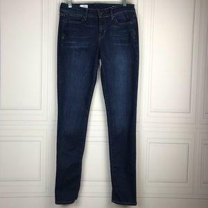 Gap Mid Rise Skinny Dark Wash Jeans Size 28/6